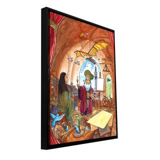 ArtWall Luis Peres 'Leo And Mona' Floater Framed Gallery-wrapped Canvas