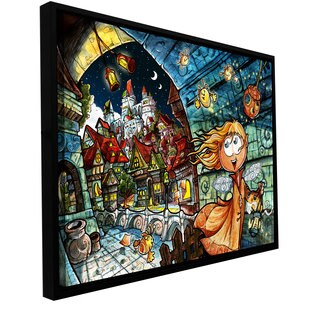 ArtWall Luis Peres 'Lighthouse Elf Village' Floater Framed Gallery-wrapped Canvas