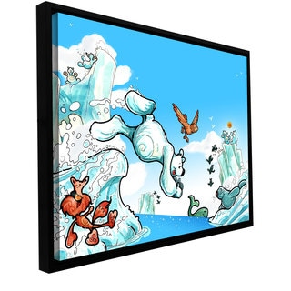 ArtWall Luis Peres 'Polar 2' Floater Framed Gallery-wrapped Canvas