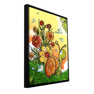 ArtWall Luis Peres 'Under The Shell' Floater Framed Gallery-wrapped Canvas