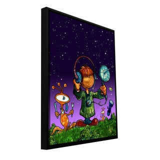 ArtWall Luis Peres 'Ufo Kid 4' Floater Framed Gallery-wrapped Canvas