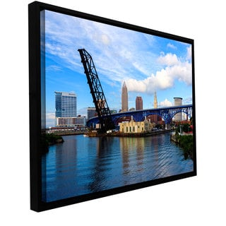 ArtWall Cody York 'Cleveland 12' Floater Framed Gallery-wrapped Canvas