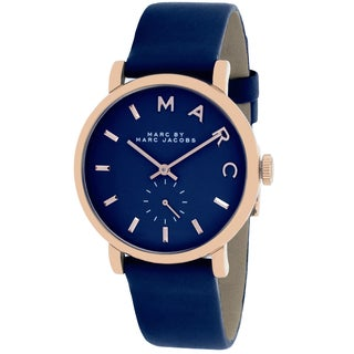 Marc Jacobs Women's MBM1329 Baker Round Navy Strap Watch
