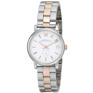 Marc Jacobs Women's MBM3331 Baker Round Two tone Bracelet Watch