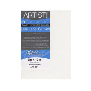 Fredrix Blue Label Ultra-Smooth Portrait Grade Pre-Stretched Artist Canvas - White