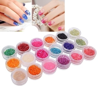 Zodaca 18-Color Classy Nail Art Idea Design DIY Shell Chip Glitter Set
