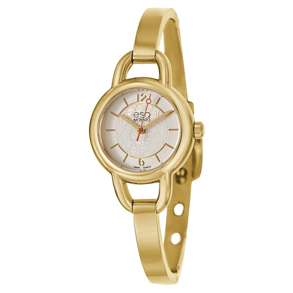 esq by movado women 39 s 07101419 39 status 39 yellow gold ion. Black Bedroom Furniture Sets. Home Design Ideas