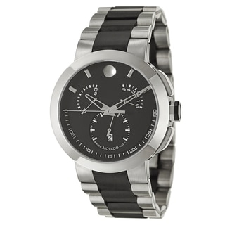 Movado Men's 0606546 'Verto' Stainless Steel and Black PVD Coated Swiss Quartz Watch