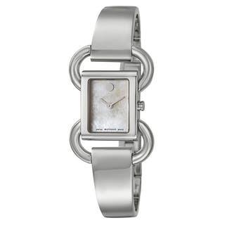Movado Women's 0606736 'Linio' Stainless Steel Swiss Quartz Watch https://ak1.ostkcdn.com/images/products/9677529/P16857046.jpg?impolicy=medium