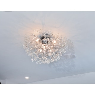 Zest Chrome 6-light Flush Mount