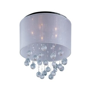 Veil Chrome 5-light Flush Mount - Silver Sheer