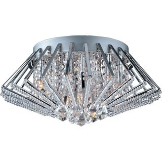 Zen Chrome 9-light Flush Mount