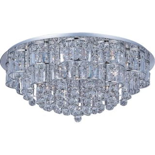Bangle Chrome 28-light Flush Mount