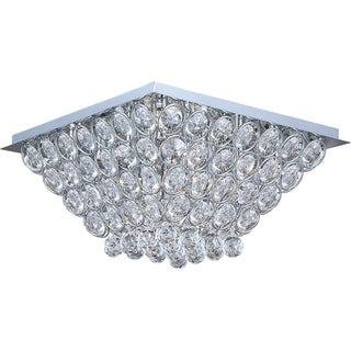 Brilliant Chrome 16-light Flush Mount