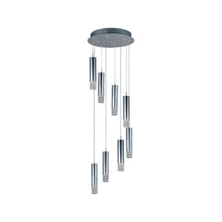Bangle Chrome 8-light Flush Mount
