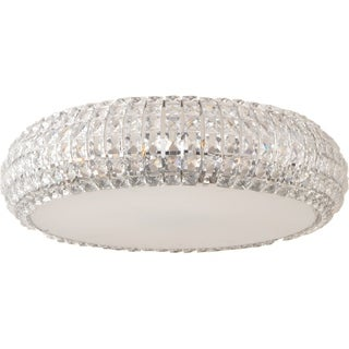 Bijou Chrome 9-light Flush Mount