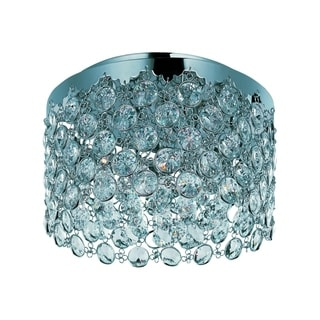 Dazzle Chrome 4-light Flush Mount