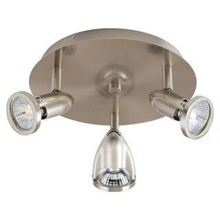 Agron 3-light Nickel Flush Mount