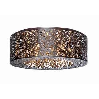 Inca Bronze 9-light Flush Mount