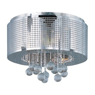 Illusion Chrome 5-light Flush Mount