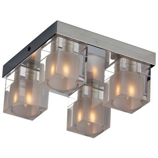 Blocs Chrome 4-light Flush Mount