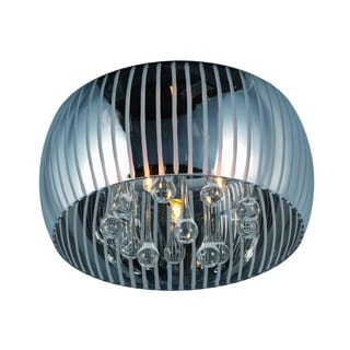 Sense II Chrome 3-light Flush Mount
