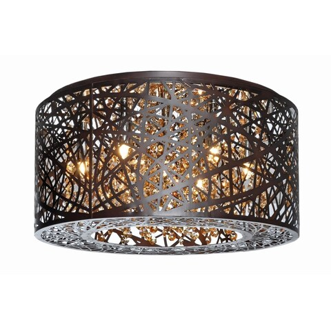 Inca Bronze 7-light Flush Mount Ceiling Light