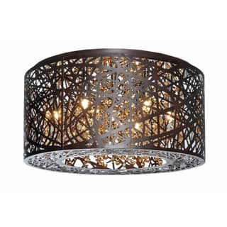 Inca Bronze 7-light Flush Mount Ceiling Light|https://ak1.ostkcdn.com/images/products/9677624/P16857195.jpg?impolicy=medium
