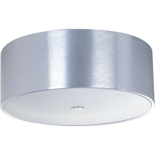 Percussion Chrome 3-light Flush Mount