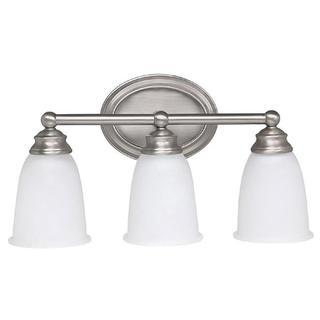 Capital Lighting Transitional 3-light Matte Nickel Bath/Vanity Light