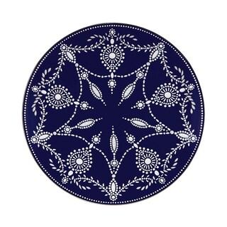 Lenox Marchesa Empire Pearl Indigo Accent Plate