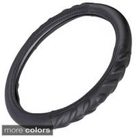 Motor Trend Eco Friendly Odorless Steering Wheel Cover 15-inch Universal Fit for Car/  SUV/  Truck