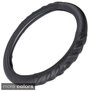 Motor Trend Eco Friendly Odorless Steering Wheel Cover  14inch Universal Fit for Car/ SUV/ Truck