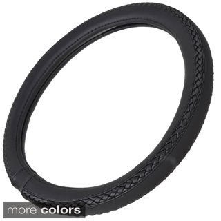 Motor Trend Eco Friendly Odorless Steering Wheel Cover  Braids Grip 15-inch Universal Fit for Car/