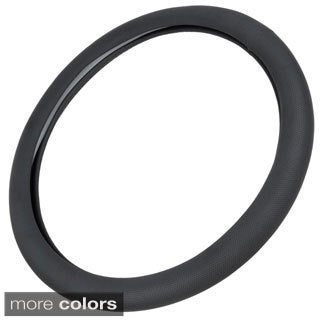 Motor Trend Eco Friendly Odorless Steering Wheel Cover Punched Grip 15-inch Universal Fit for Car