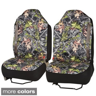 BDK Camouflage Seat Covers for Pick-up Truck Built In Seat Belt/ Armrest/ Airbag Compatible