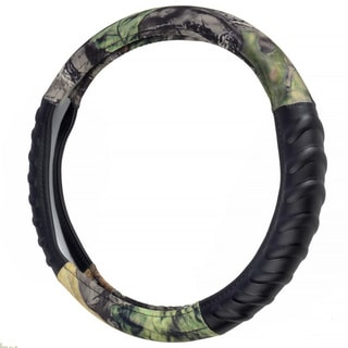 Camouflage Steering Wheel Cover Hawg Camo Design/ 15-inch Universal Fit