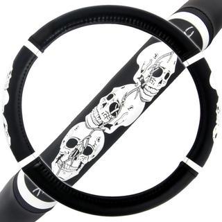 BDK Skull Head Steering Wheel Cover 15-inch Universal Fit