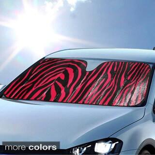 BDK Original Animal Print Zebra Sun Shade for Car