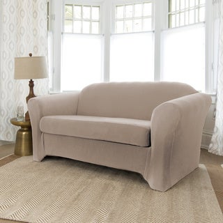 Bella 2-piece Form Fit Loveseat Slipcover