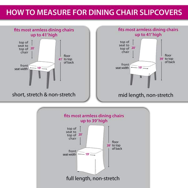 Piece Stretch Dining Chair Slipcover