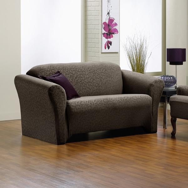 Sofa Slipcover No Sew: Shop QuickCover Fresca 1-piece Stretch Sofa Slipcover