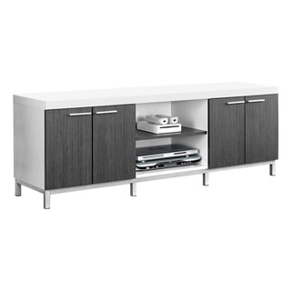 White and Grey Hollow-core 60-inch TV Console