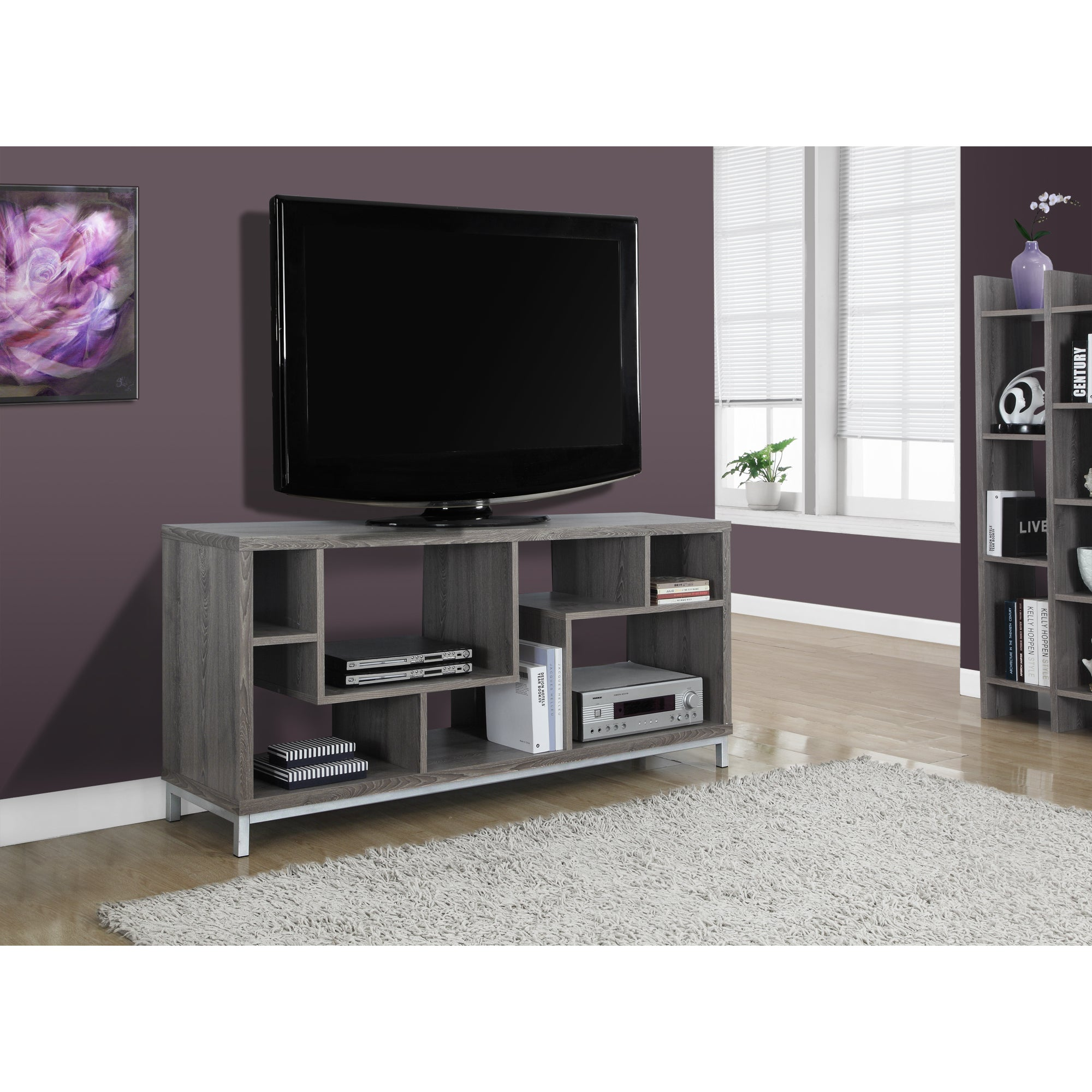 Monarch Dark Taupe (Brown) Reclaimed-look 60-inch TV Cons...