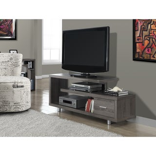Dark Taupe Reclaimed-look 60-inch TV Console