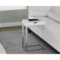 Clay Alder Home Pacific Chrome Metal White Accent Table