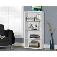 Clay Alder Home Loma White Hollow-core 48-inch Adjustable Shelves Bookcase