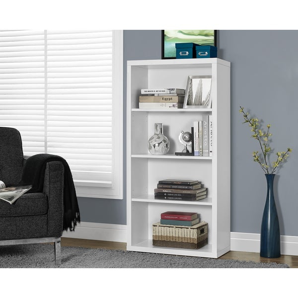 Exceptionnel Clay Alder Home Loma White Hollow Core 48 Inch Adjustable Shelves Bookcase