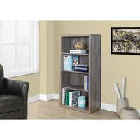 Havenside Home Bellport 48-inch Dark Taupe Reclaimed Bookcase with Adjustable Shelves