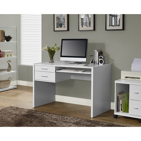 White Hollow-core 48-inch Computer Desk